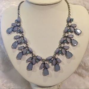 Jewelry - Antiqued Silver & Hues of Blue Statement Necklace